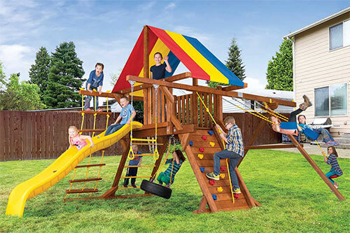 Quality Swing Sets Rainbow Play Il Wooden Swing Sets Shop Online